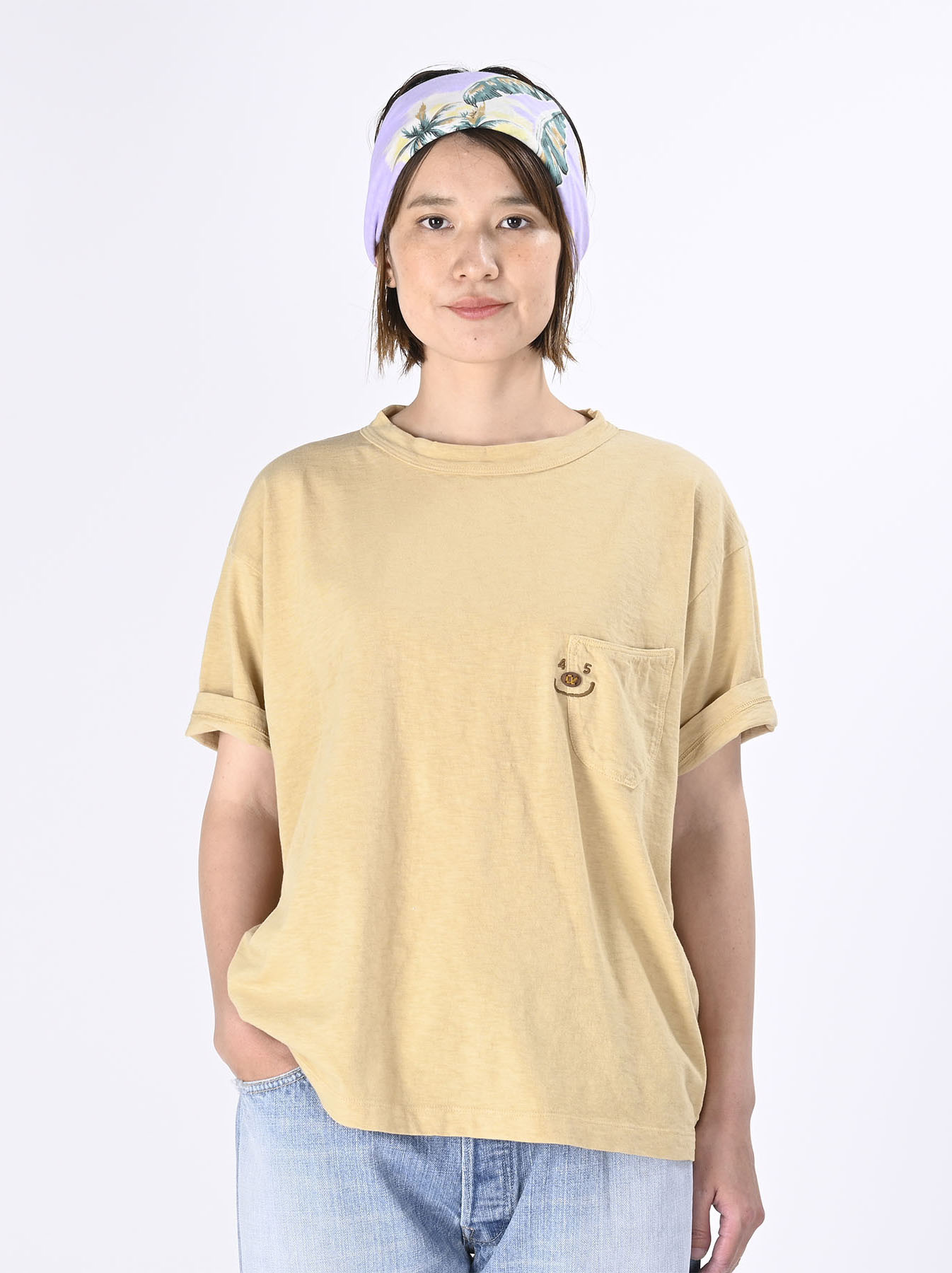 Smile R Embroidery 908 Ocean T-shirt (0621)-4
