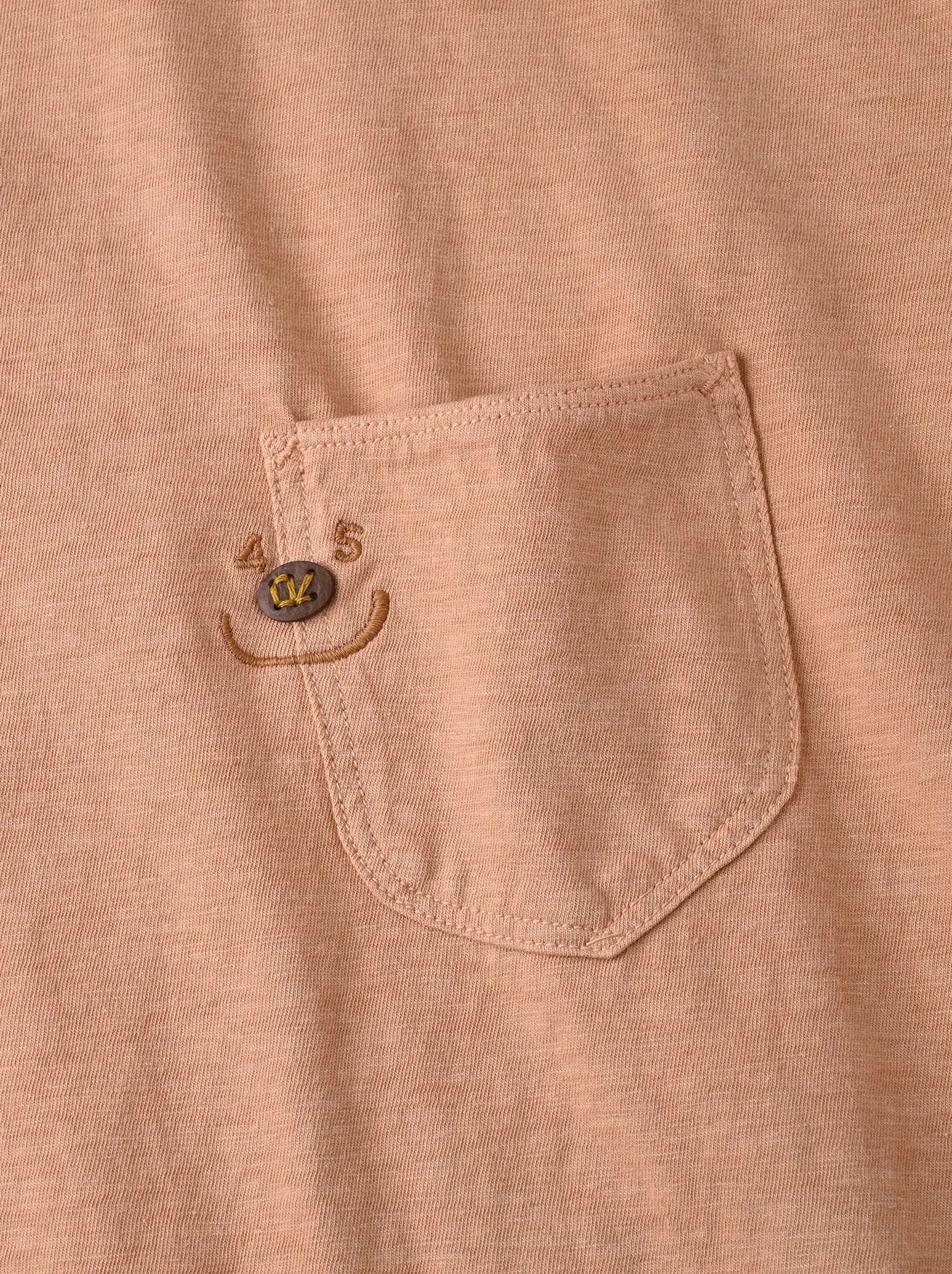 Smile R Embroidery 908 Ocean T-shirt (0621)-11
