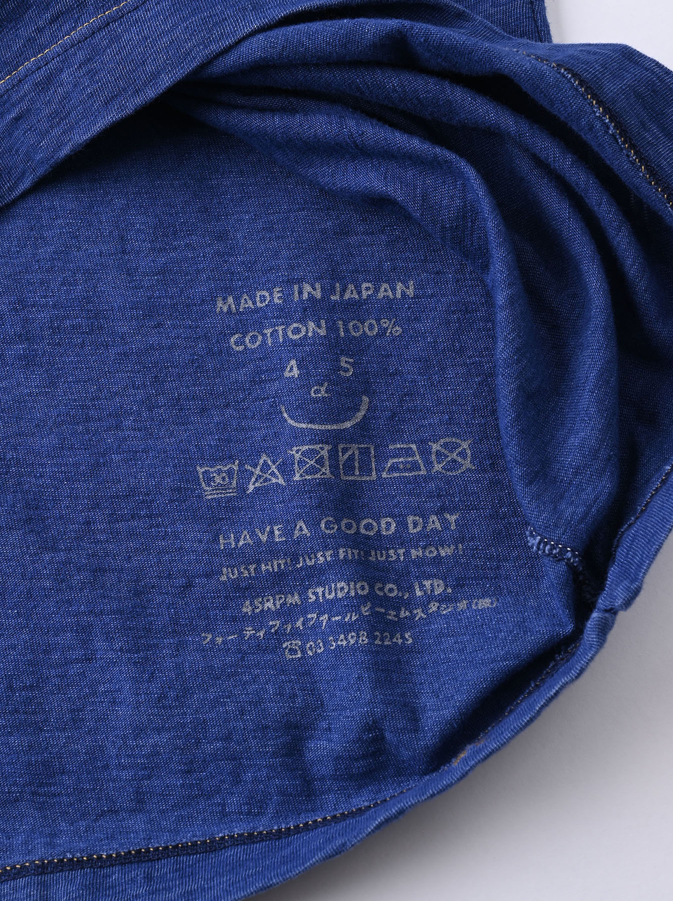 Distressed Indigo Ukiyo de Surf 908 Ocean T-shirt (0621)-8
