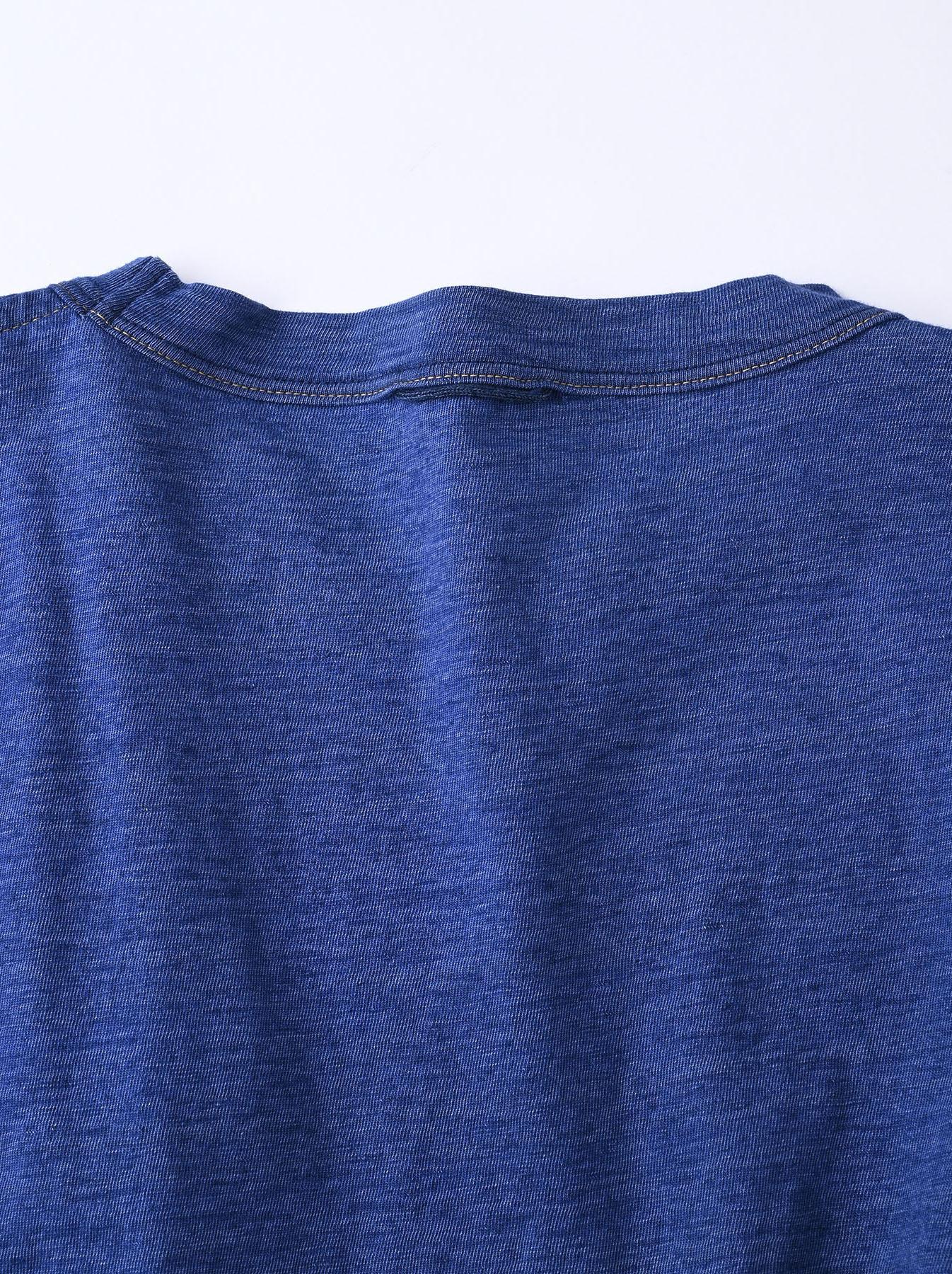 Distressed Indigo Ukiyo de Surf 908 Ocean T-shirt (0621)-10