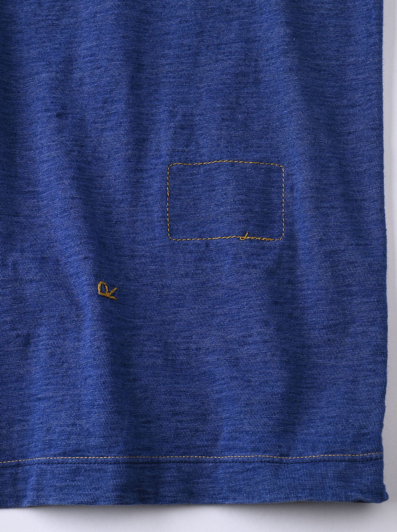 Distressed Indigo Ukiyo de Surf 908 Ocean T-shirt (0621)-12