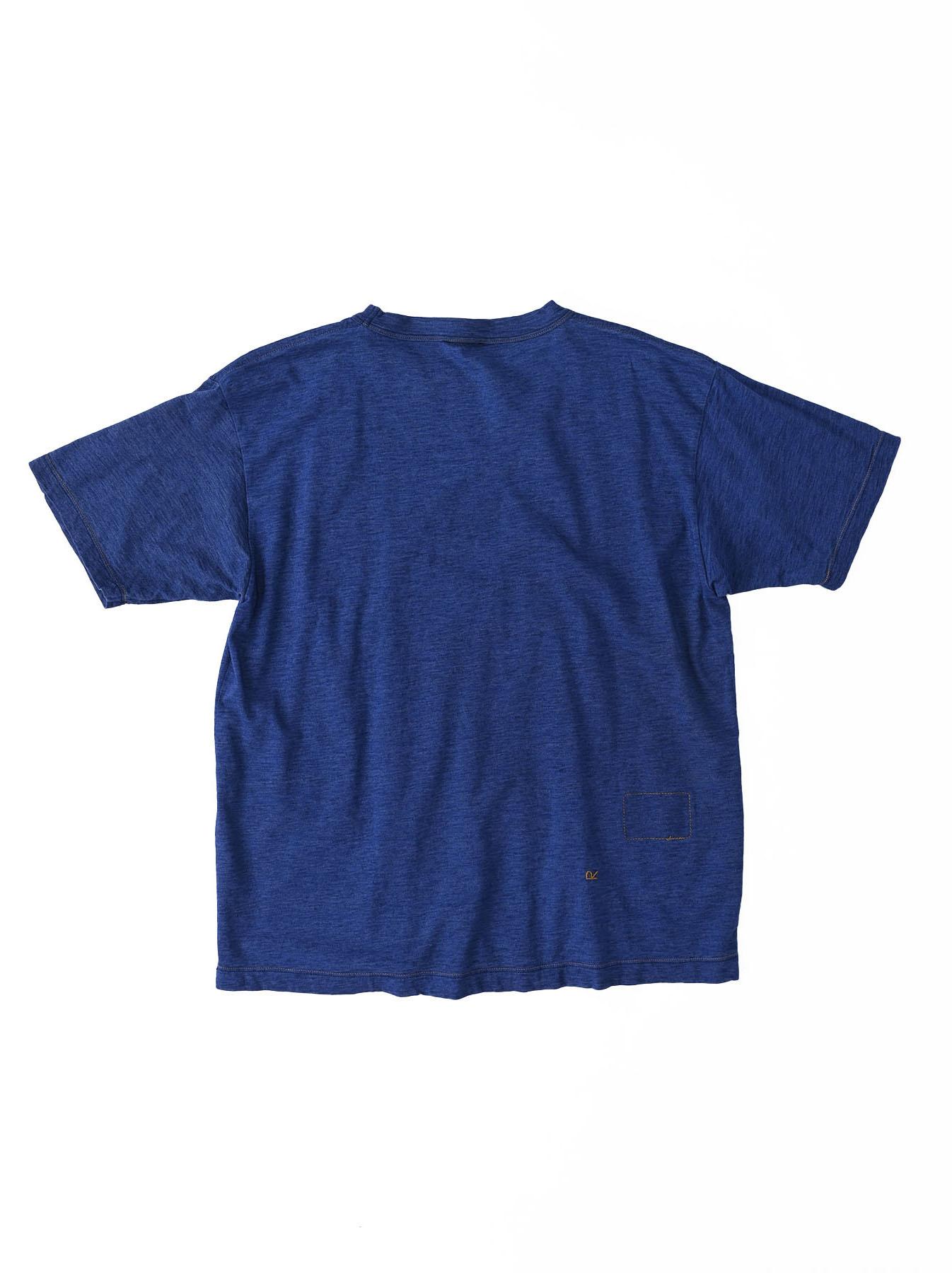 Distressed Indigo Ukiyo de Surf 908 Ocean T-shirt (0621)-6