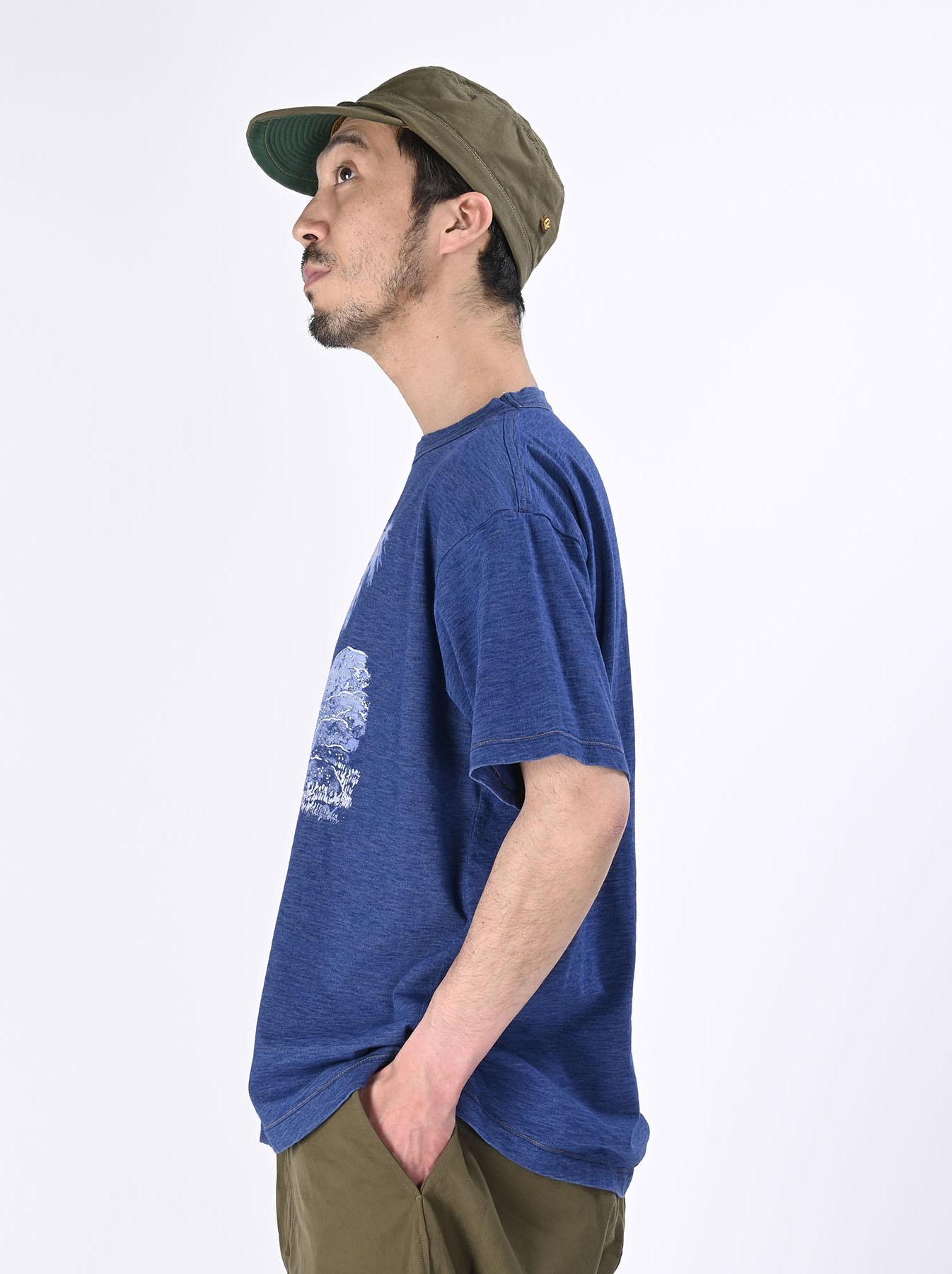 Distressed Indigo Ukiyo de Surf 908 Ocean T-shirt (0621)-4