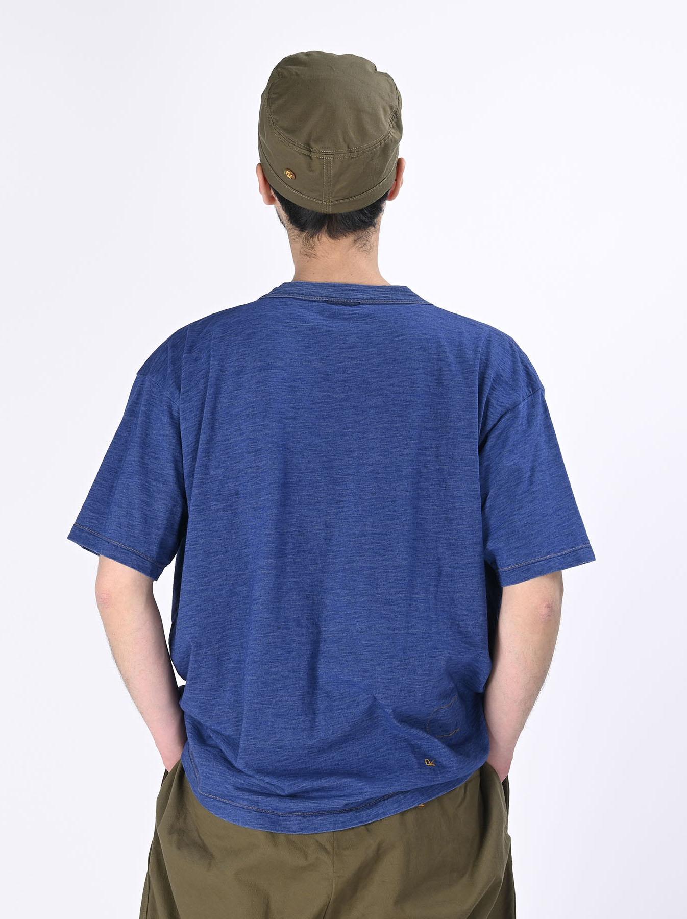 Distressed Indigo Ukiyo de Surf 908 Ocean T-shirt (0621)-5