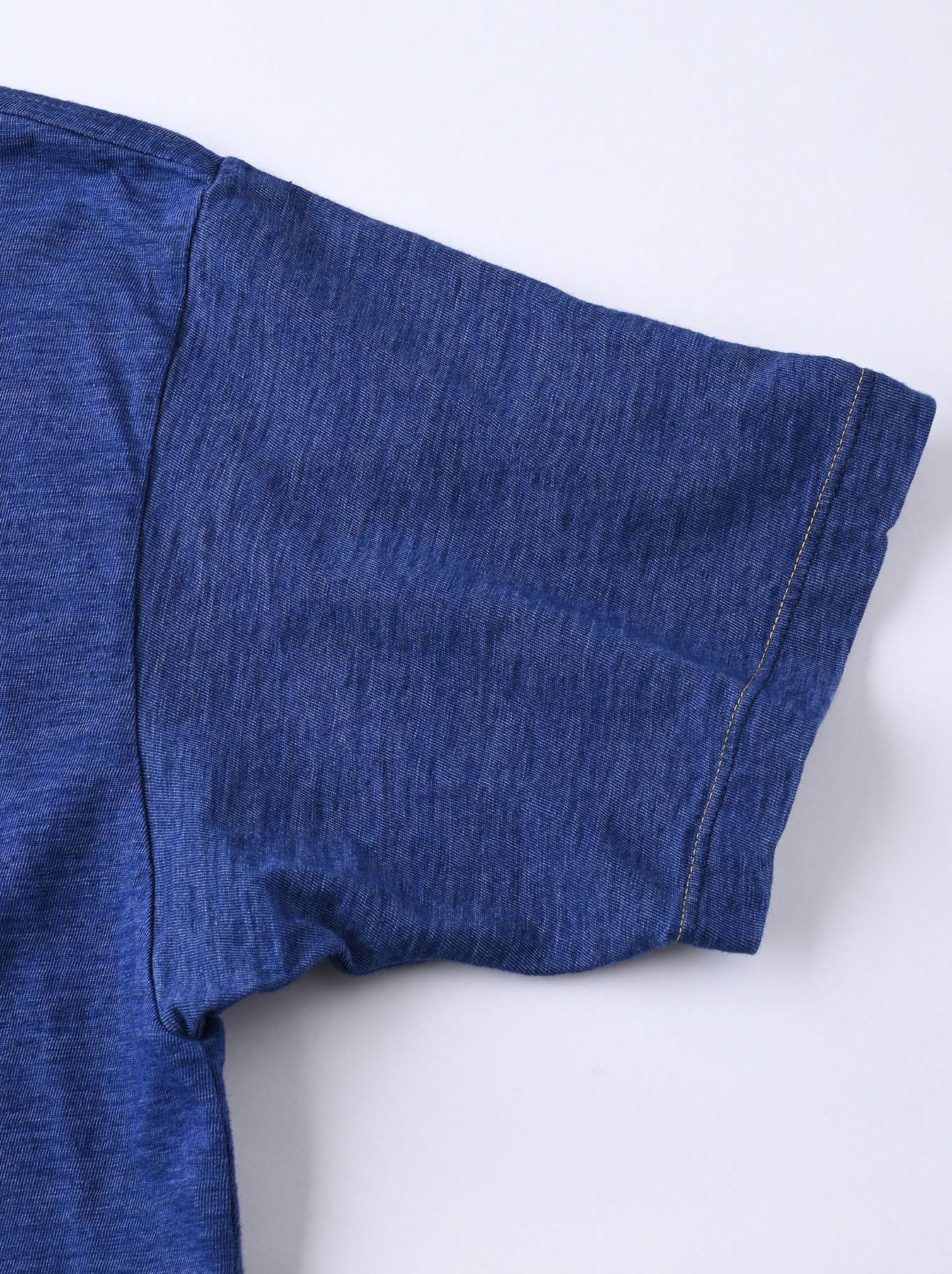 Distressed Indigo Ukiyo de Surf 908 Ocean T-shirt (0621)-11