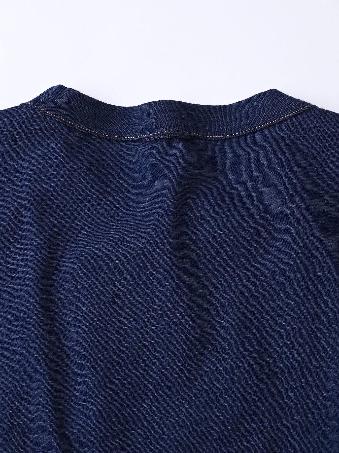 Indigo Ukiyo de Surf 908 Ocean T-shirt (0621)-10