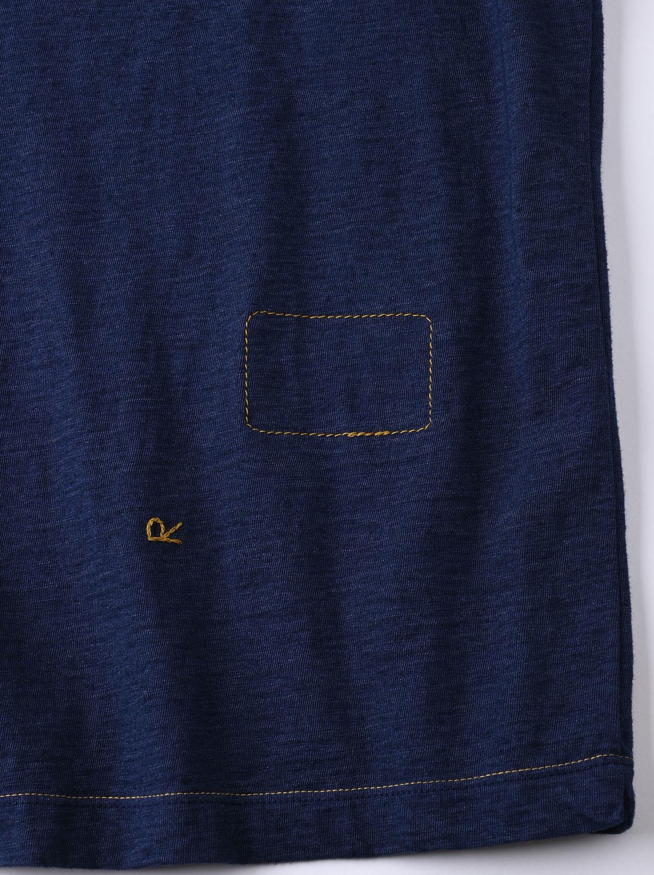 Indigo Ukiyo de Surf 908 Ocean T-shirt (0621)-9