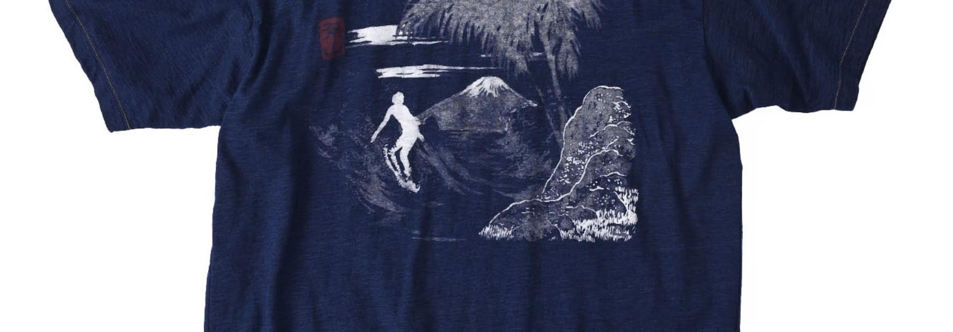 Indigo Ukiyo de Surf 908 Ocean T-shirt (0621)