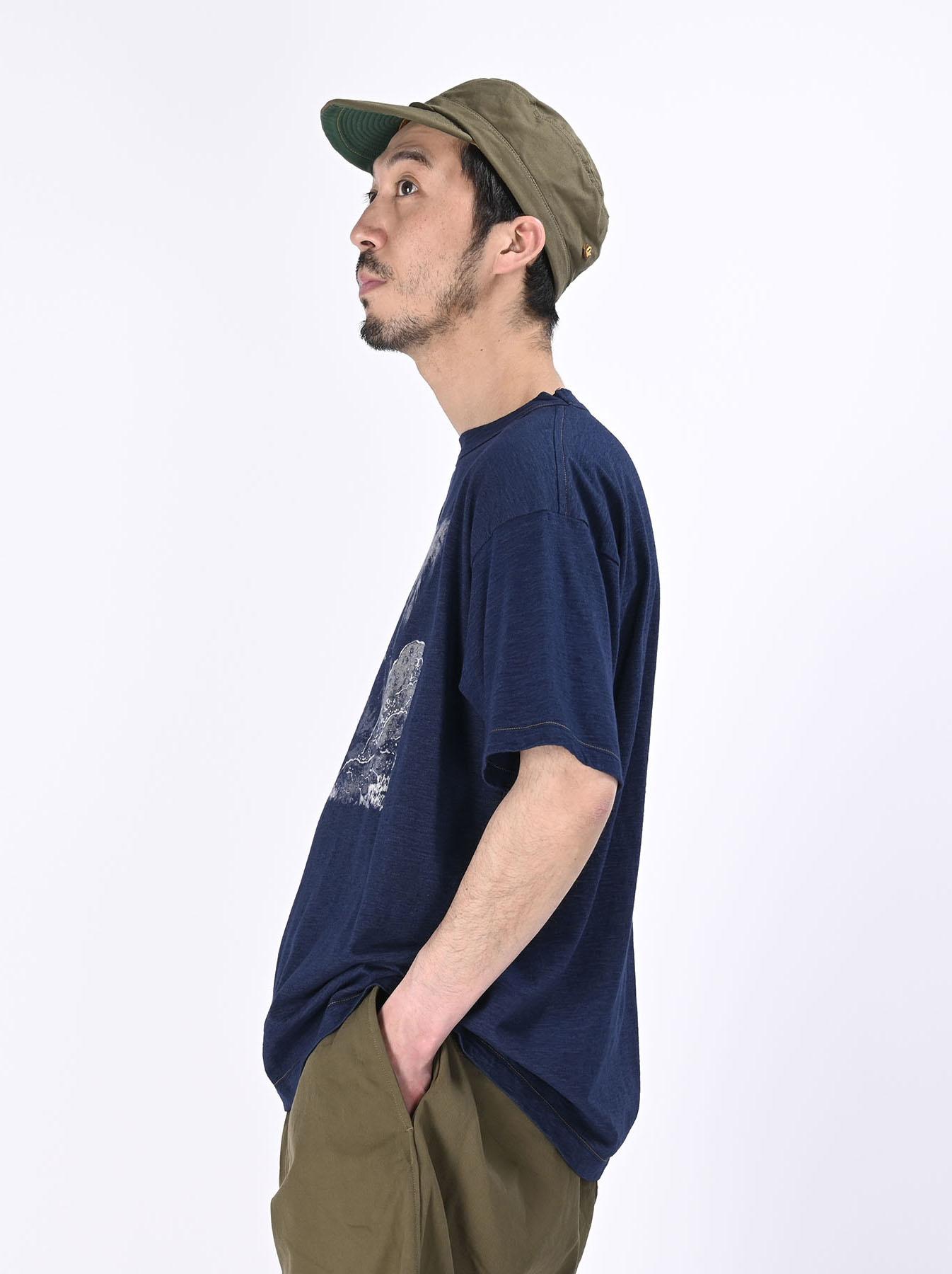 Indigo Ukiyo de Surf 908 Ocean T-shirt (0621)-3