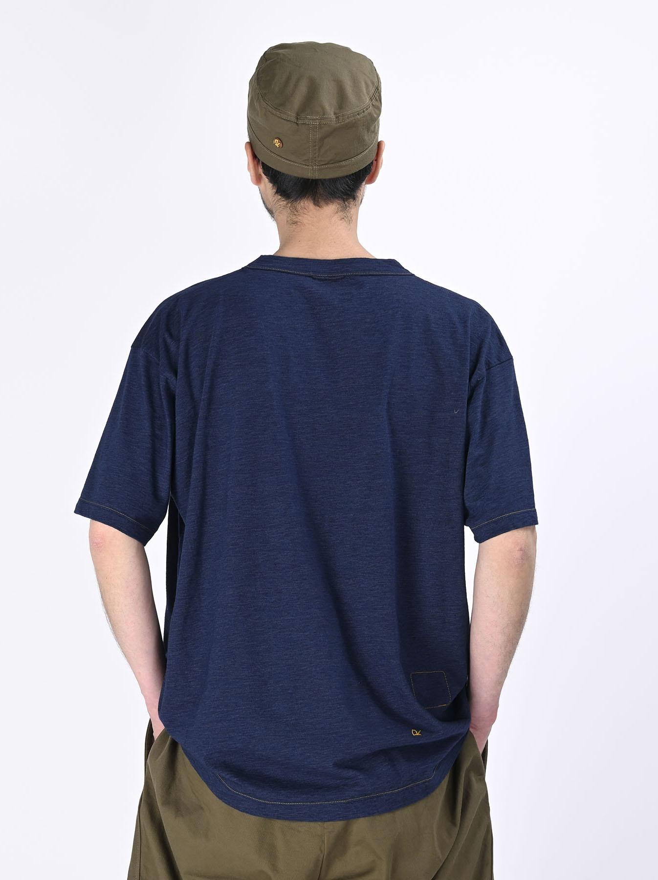Indigo Ukiyo de Surf 908 Ocean T-shirt (0621)-4