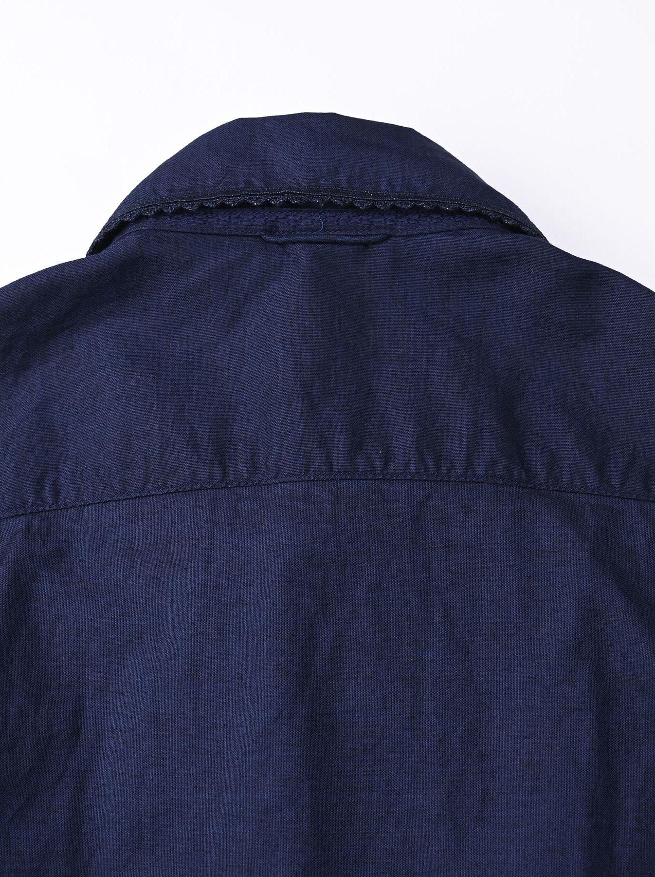 Indigo Thin Oxford 908 Ocean Lace Shirt (0621)-9