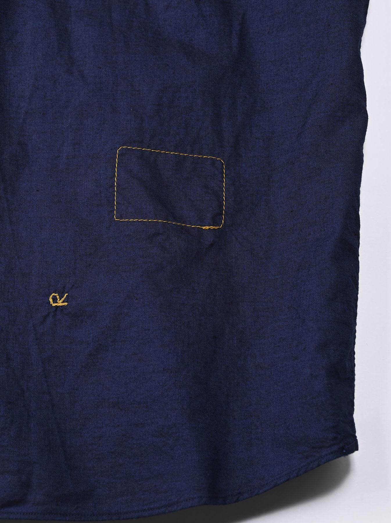 Indigo Thin Oxford 908 Ocean Lace Shirt (0621)-10