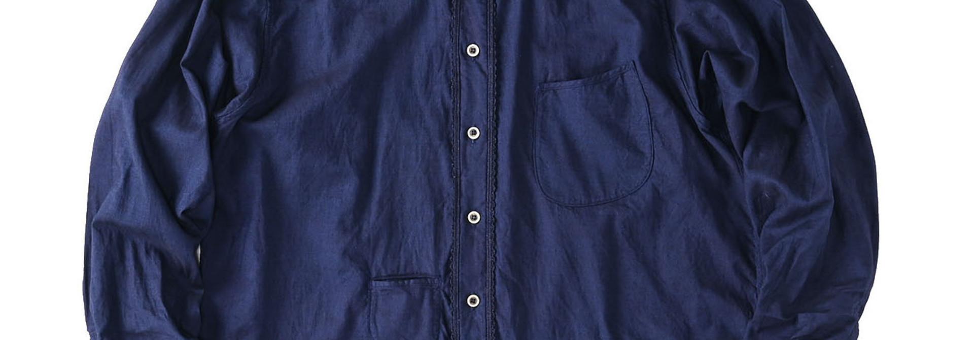 Indigo Thin Oxford 908 Ocean Lace Shirt (0621)