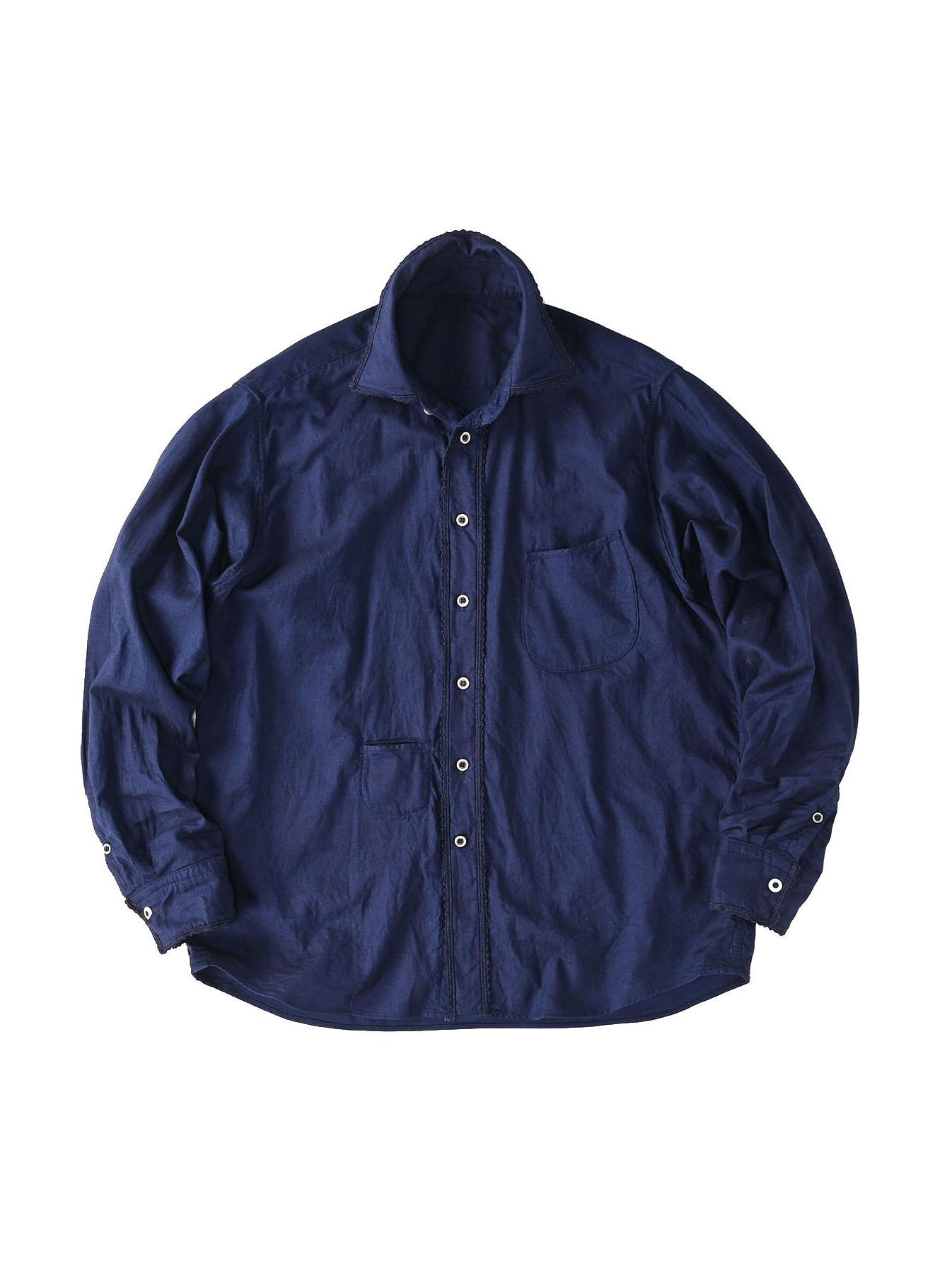 Indigo Thin Oxford 908 Ocean Lace Shirt (0621)-1
