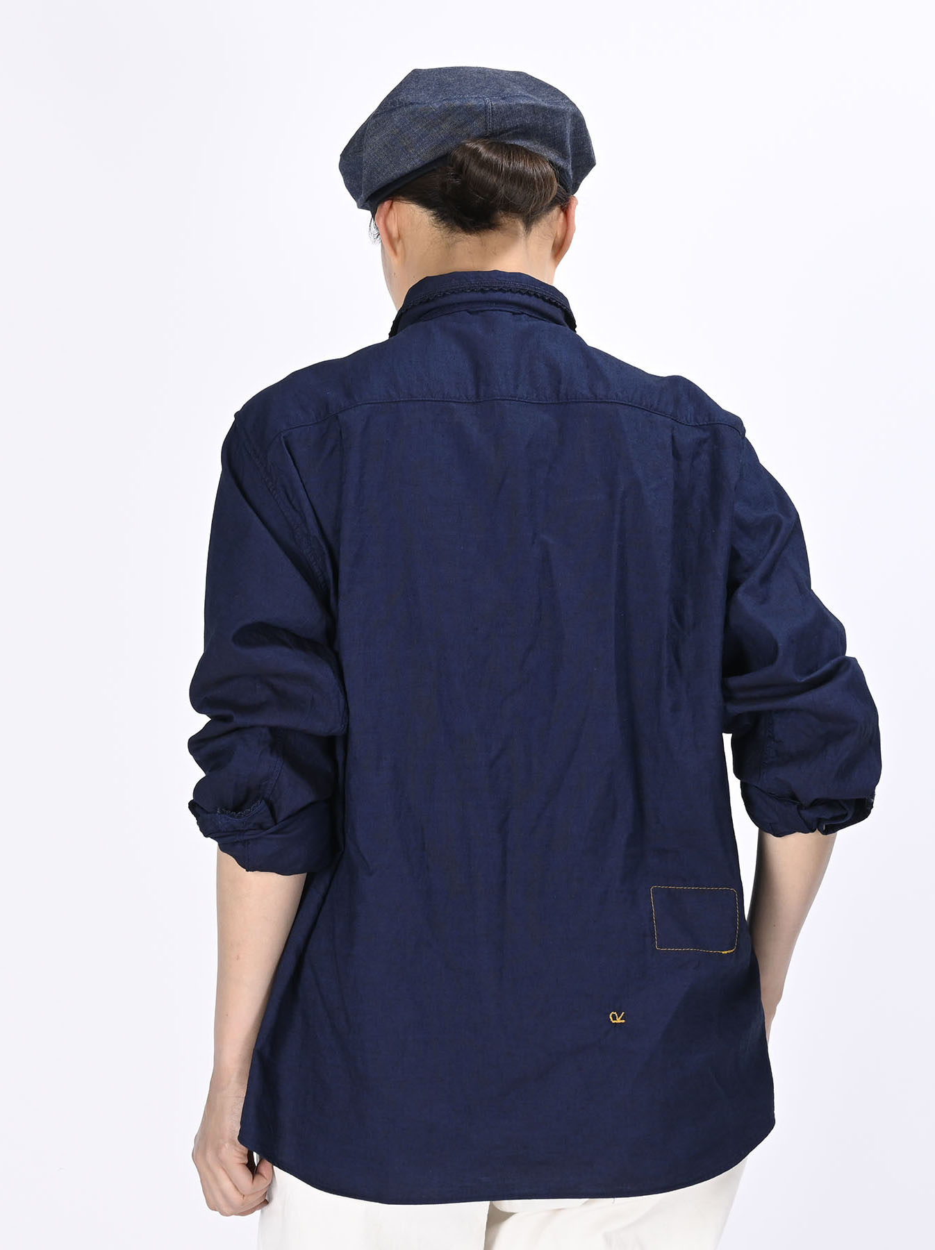 Indigo Thin Oxford 908 Ocean Lace Shirt (0621)-5