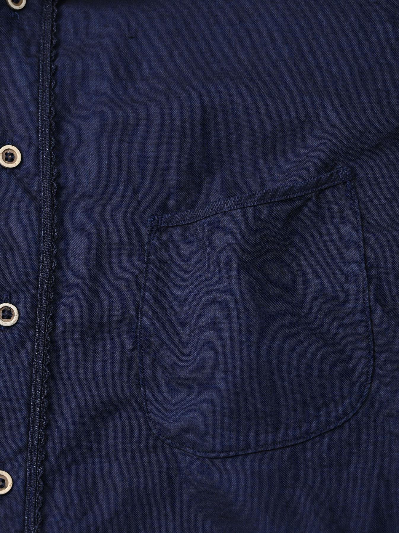 Indigo Thin Oxford 908 Ocean Lace Shirt (0621)-12