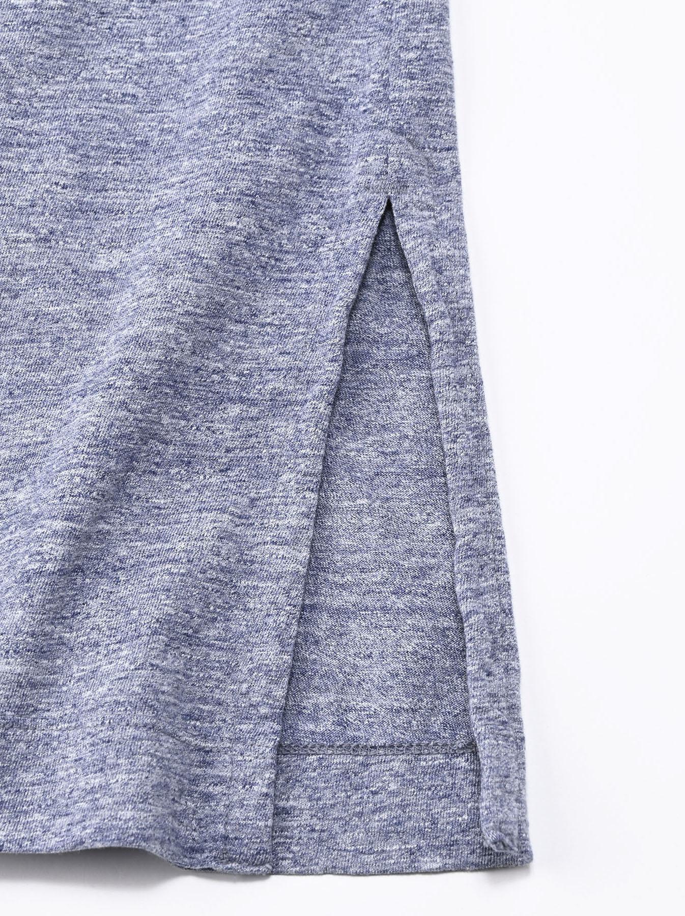 Lei Lei Print Big Slit T-shirt (0621)-10
