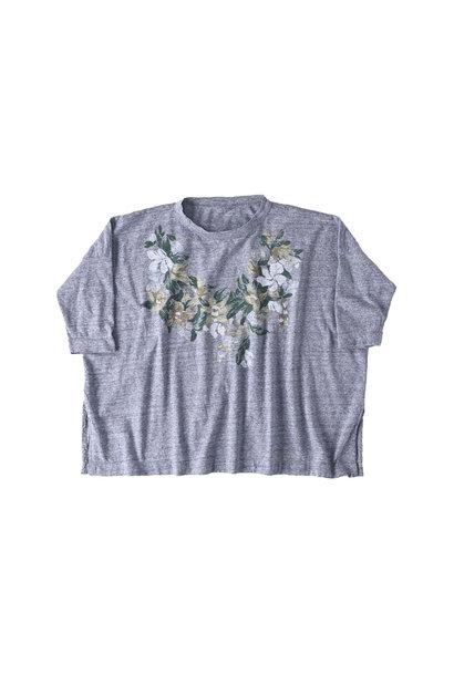Lei Lei Print Big Slit T-shirt (0621)