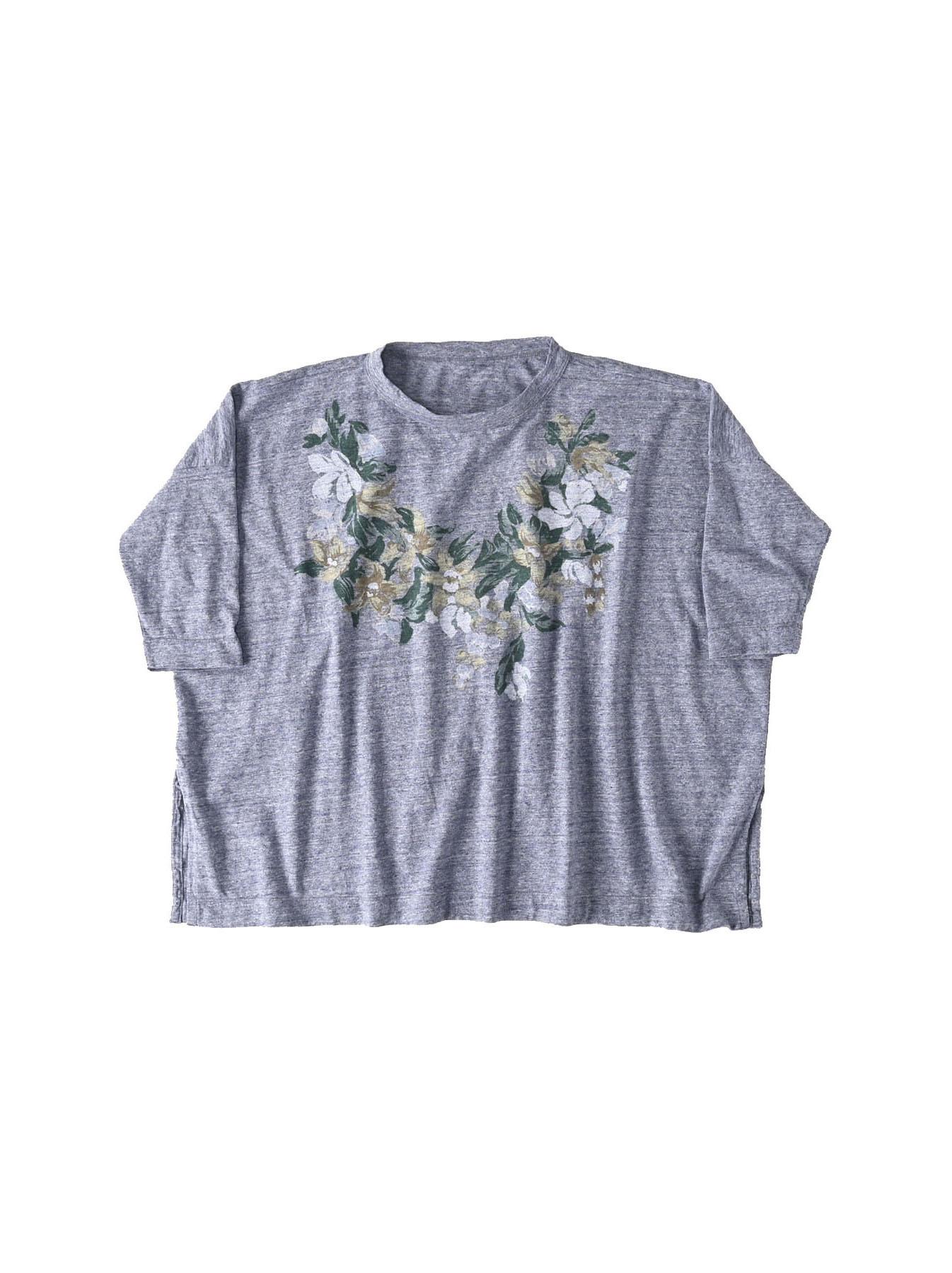 Lei Lei Print Big Slit T-shirt (0621)-1