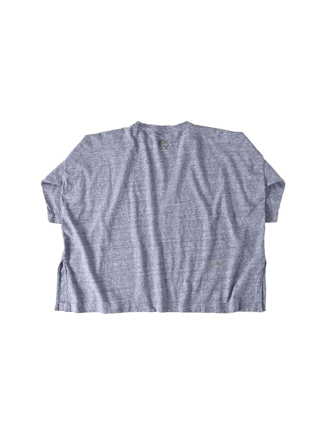 Lei Lei Print Big Slit T-shirt (0621)-6
