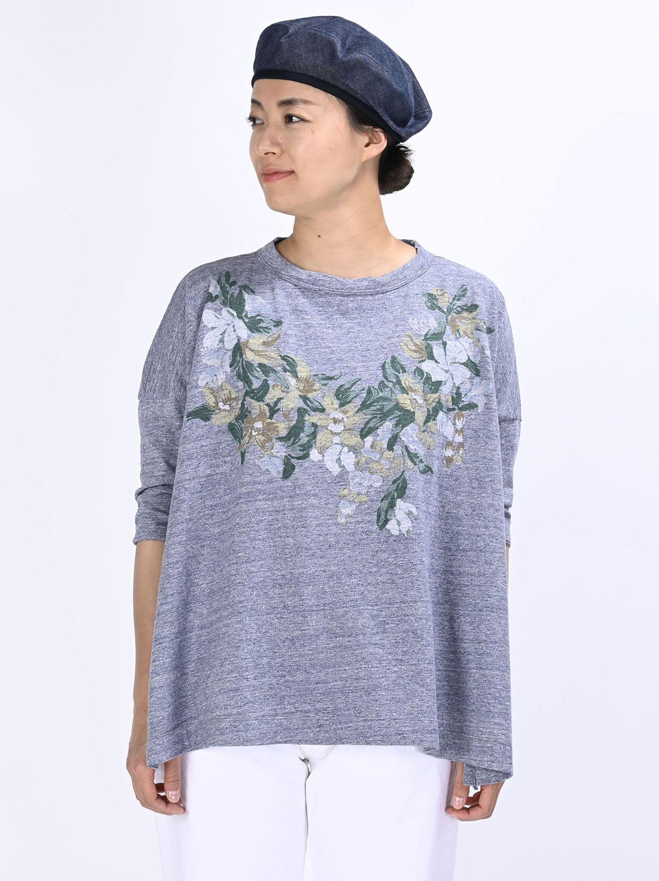 Lei Lei Print Big Slit T-shirt (0621)-3