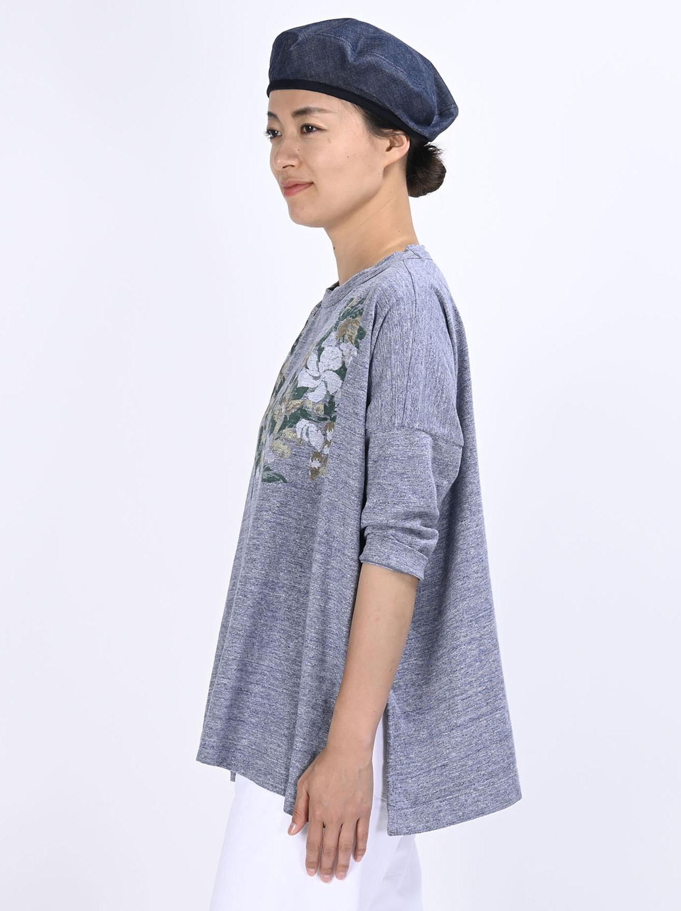 Lei Lei Print Big Slit T-shirt (0621)-4