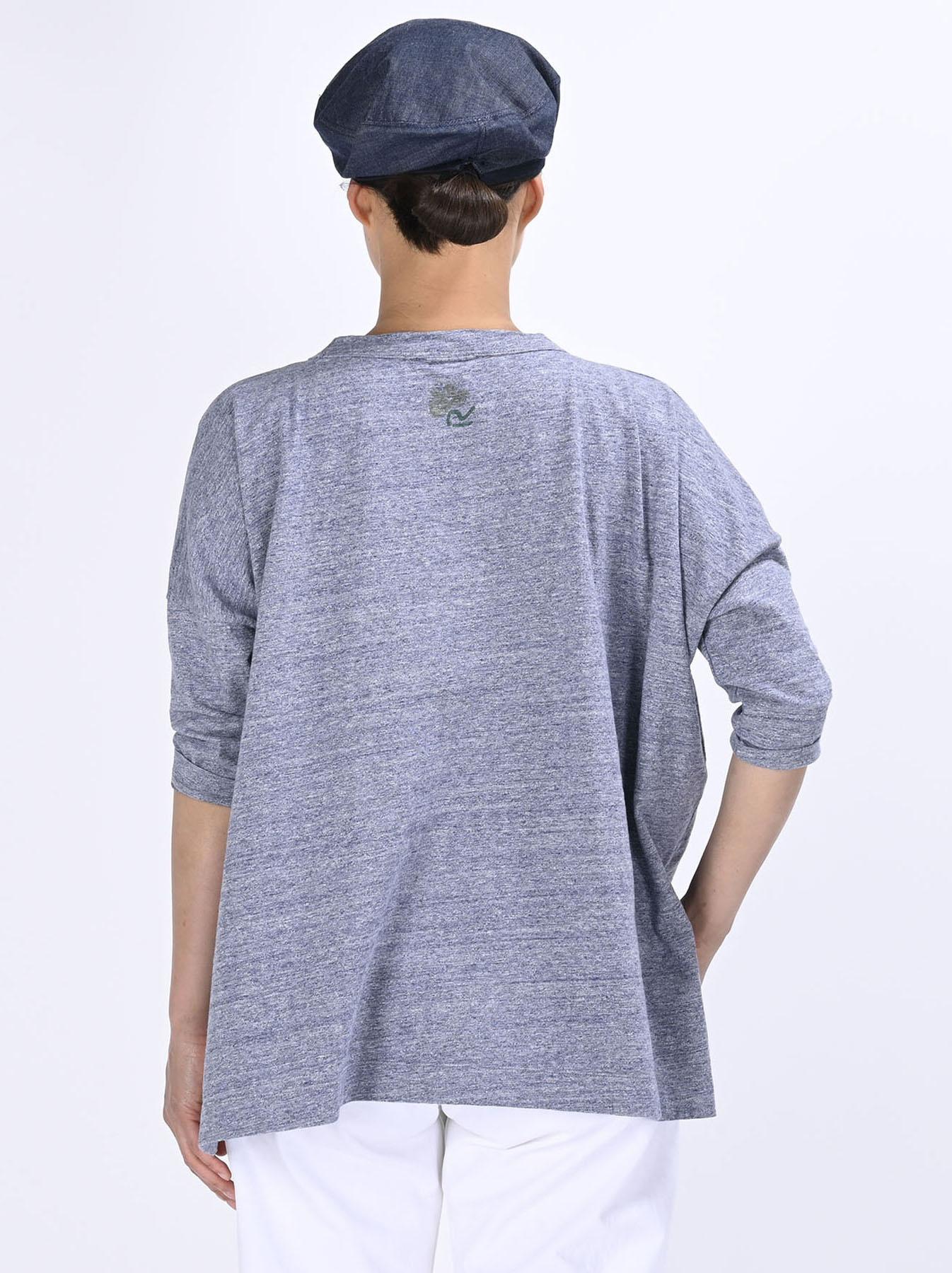 Lei Lei Print Big Slit T-shirt (0621)-5