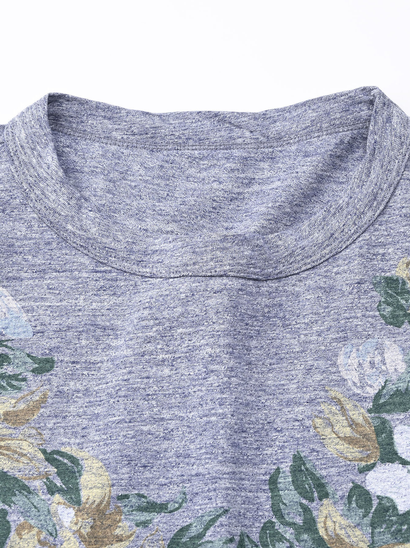 Lei Lei Print Big Slit T-shirt (0621)-8