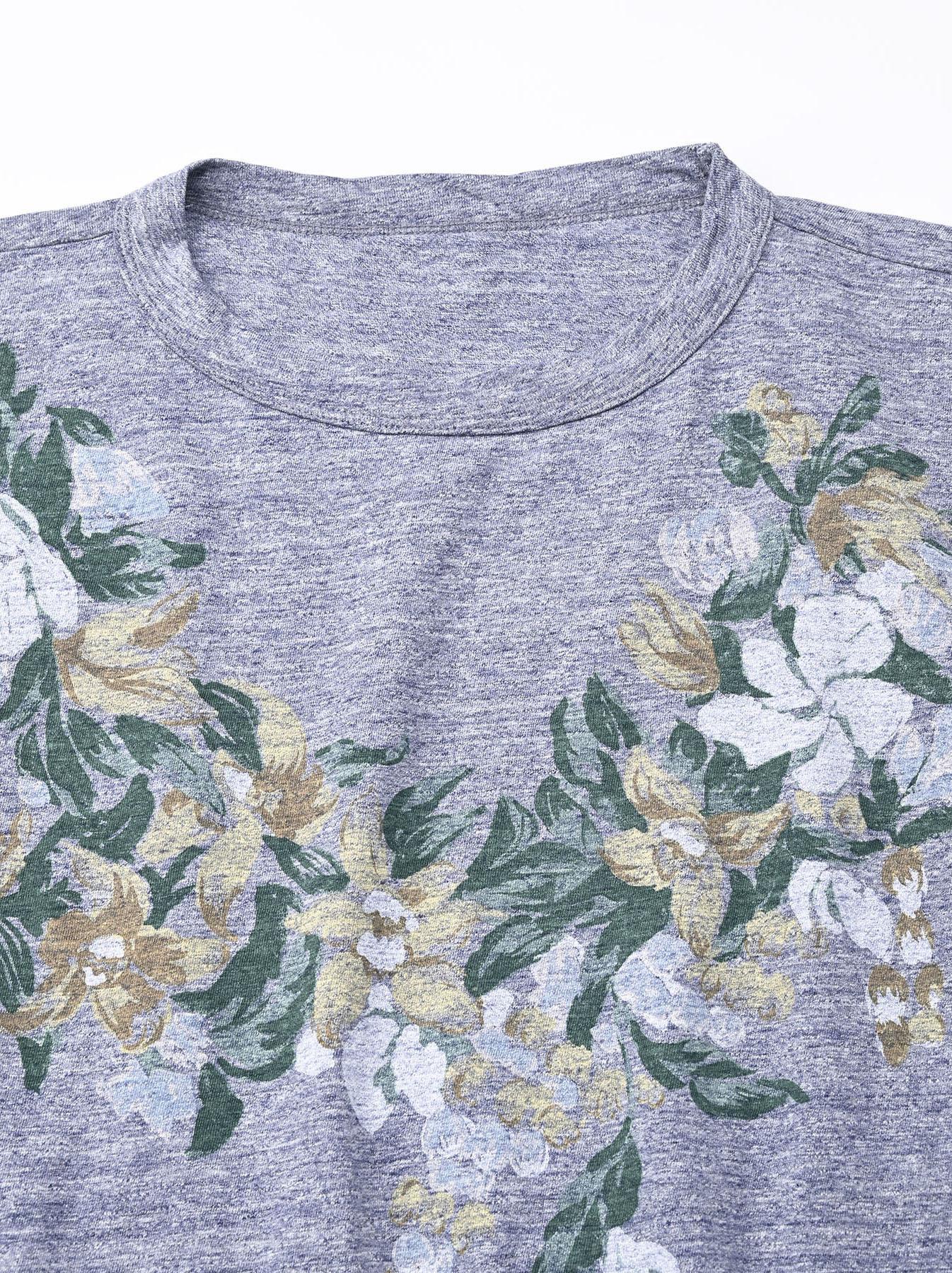 Lei Lei Print Big Slit T-shirt (0621)-7