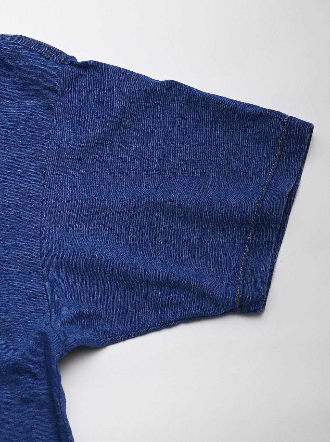 Distressed Indigo Tenjiku 908 Ocean T-Shirt (0621)-8
