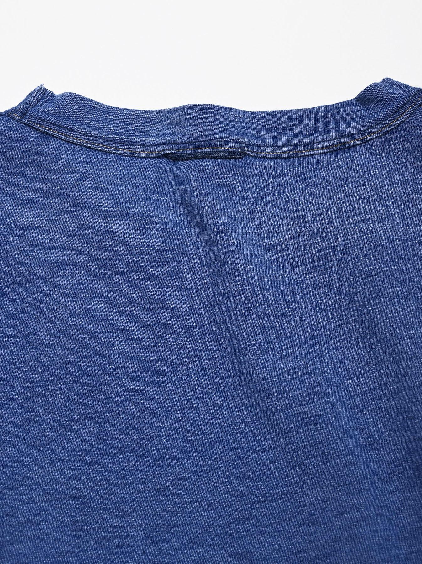 Distressed Indigo Tenjiku 908 Ocean T-Shirt (0621)-10