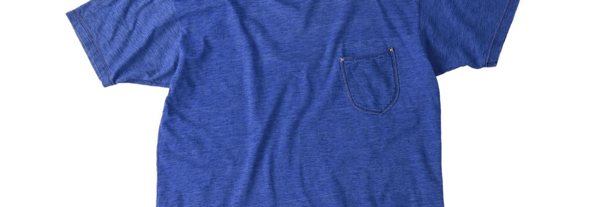 Distressed Indigo Tenjiku 908 Ocean T-Shirt (0621)