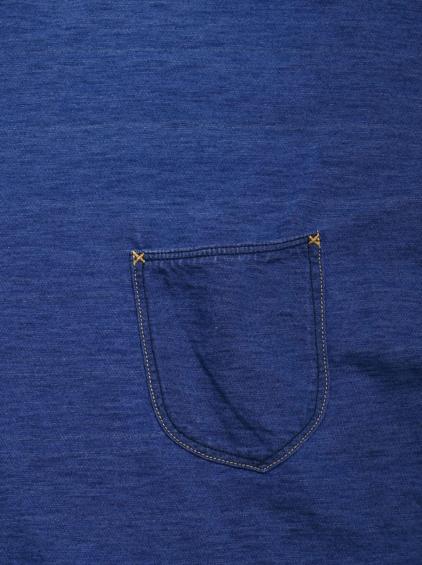 Distressed Indigo Tenjiku 908 Ocean T-Shirt (0621)-7