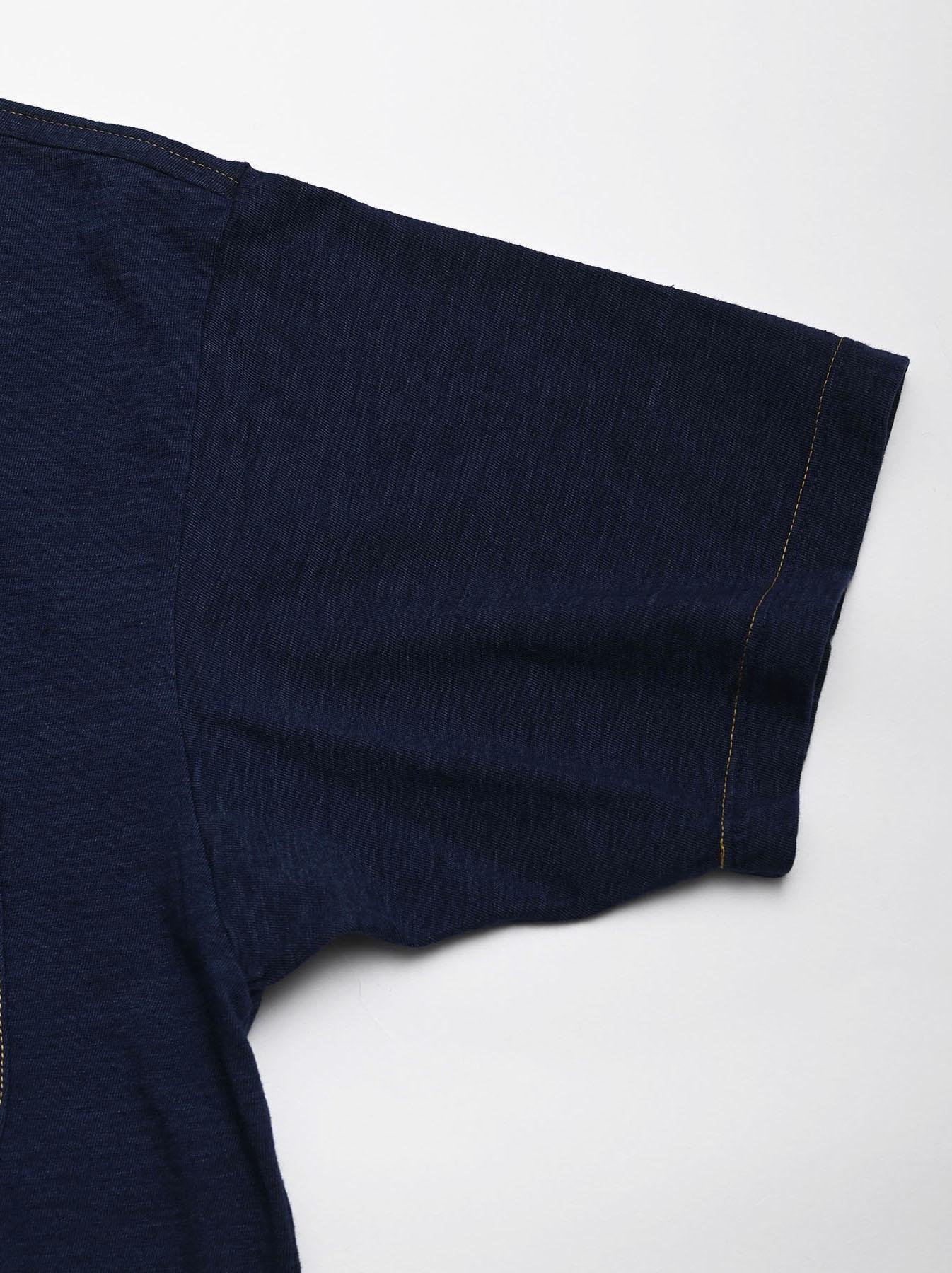 One Wash Indigo Tenjiku 908 Ocean T-Shirt (0621)-7