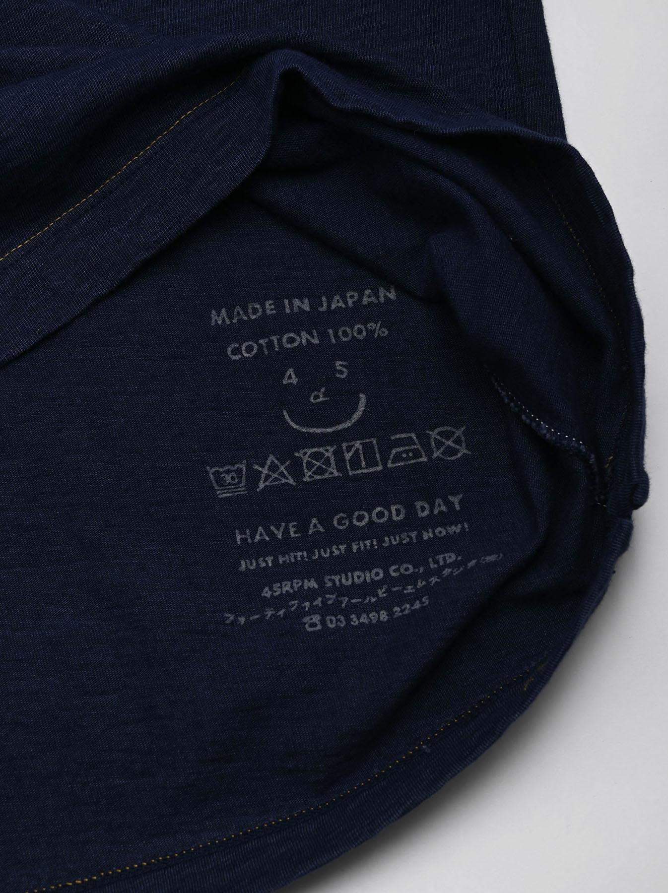 One Wash Indigo Tenjiku 908 Ocean T-Shirt (0621)-8