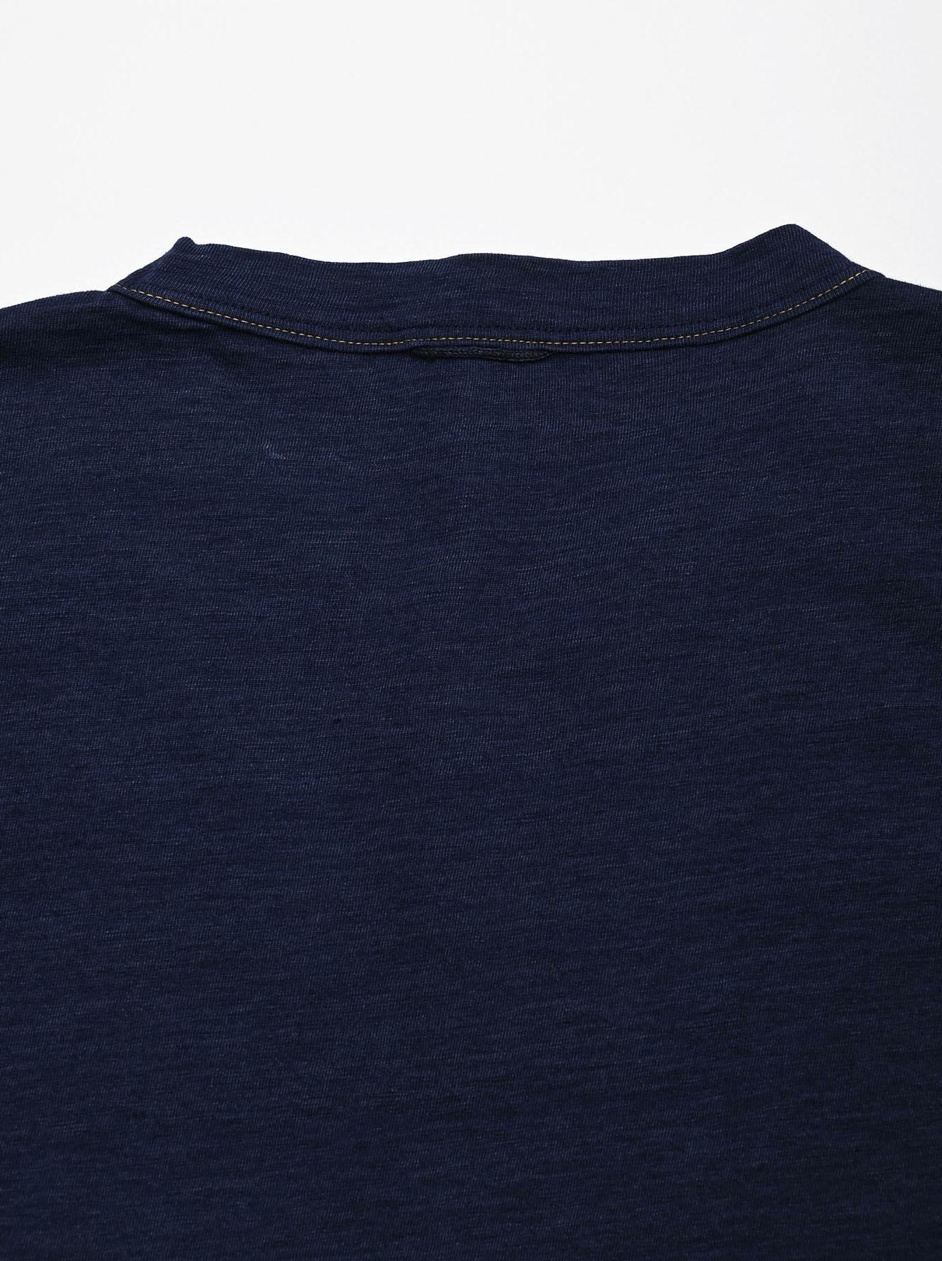 One Wash Indigo Tenjiku 908 Ocean T-Shirt (0621)-9