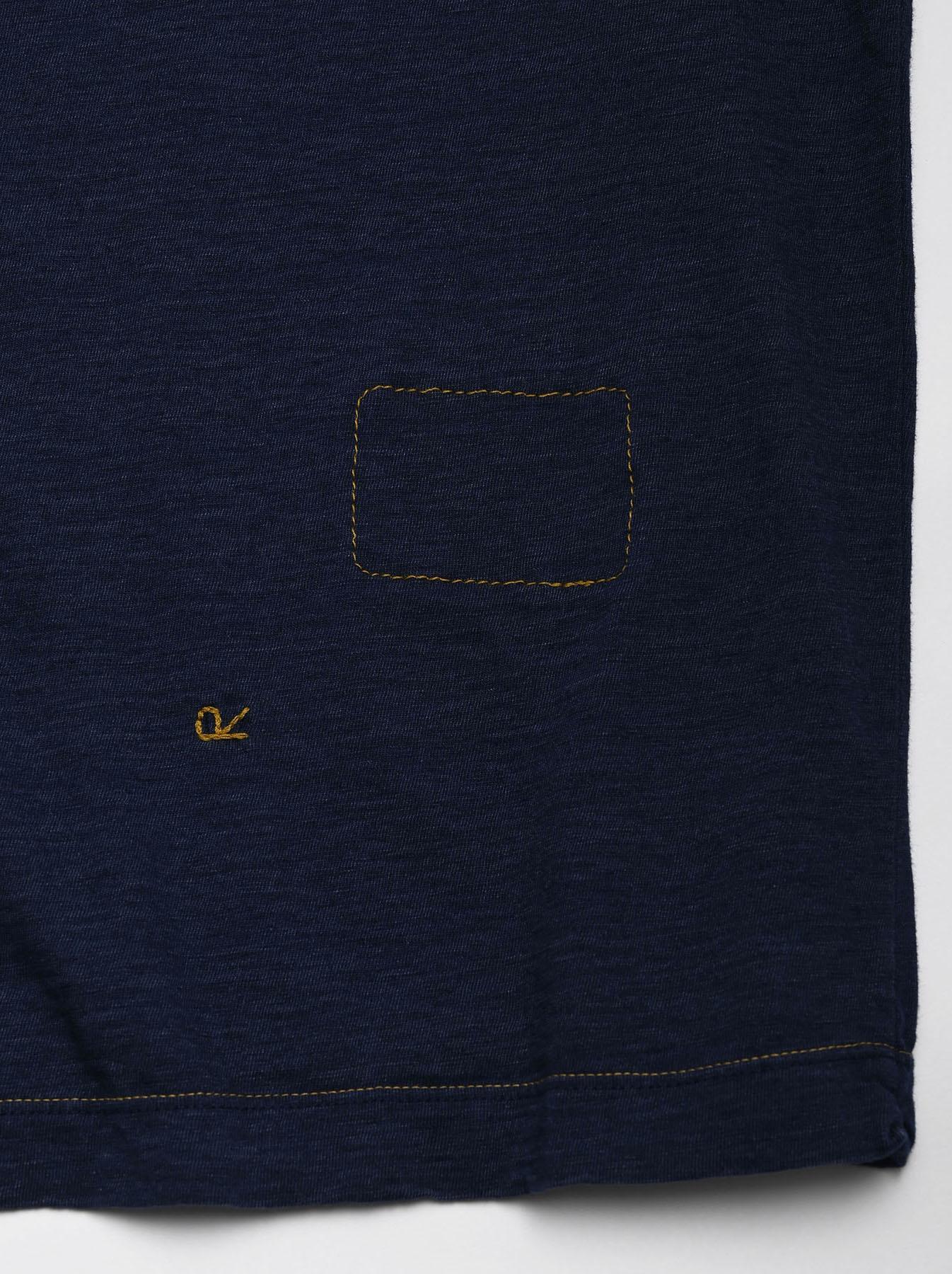 One Wash Indigo Tenjiku 908 Ocean T-Shirt (0621)-10