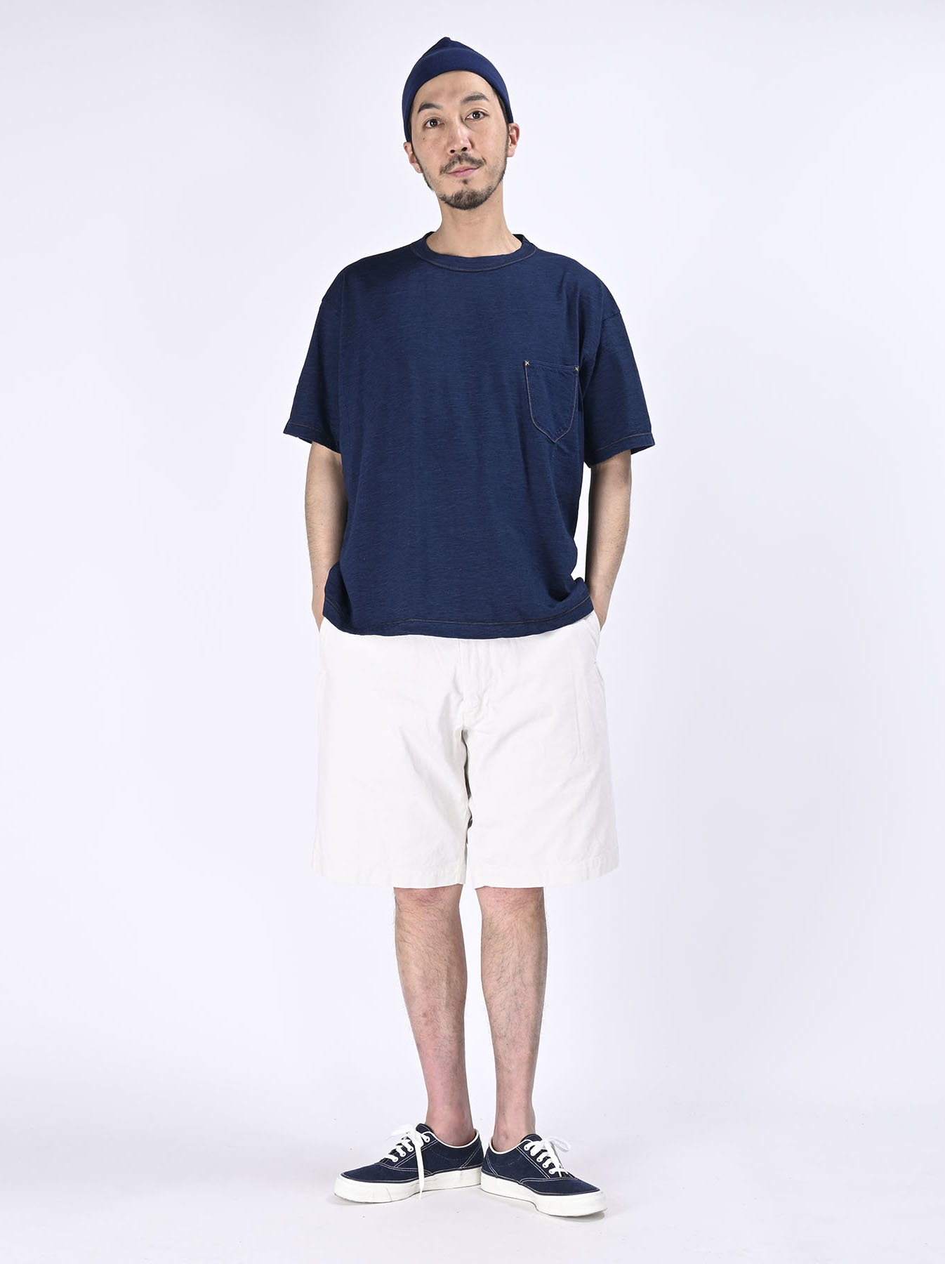 One Wash Indigo Tenjiku 908 Ocean T-Shirt (0621)-2