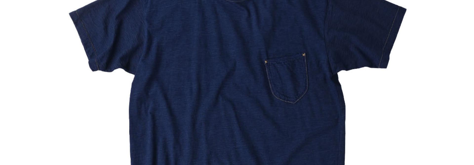 One Wash Indigo Tenjiku 908 Ocean T-Shirt (0621)