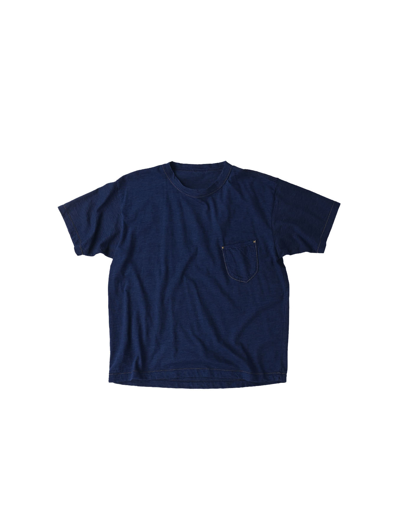 One Wash Indigo Tenjiku 908 Ocean T-Shirt (0621)-1