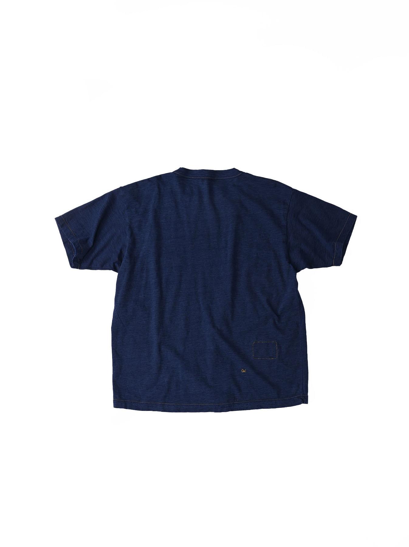 One Wash Indigo Tenjiku 908 Ocean T-Shirt (0621)-6