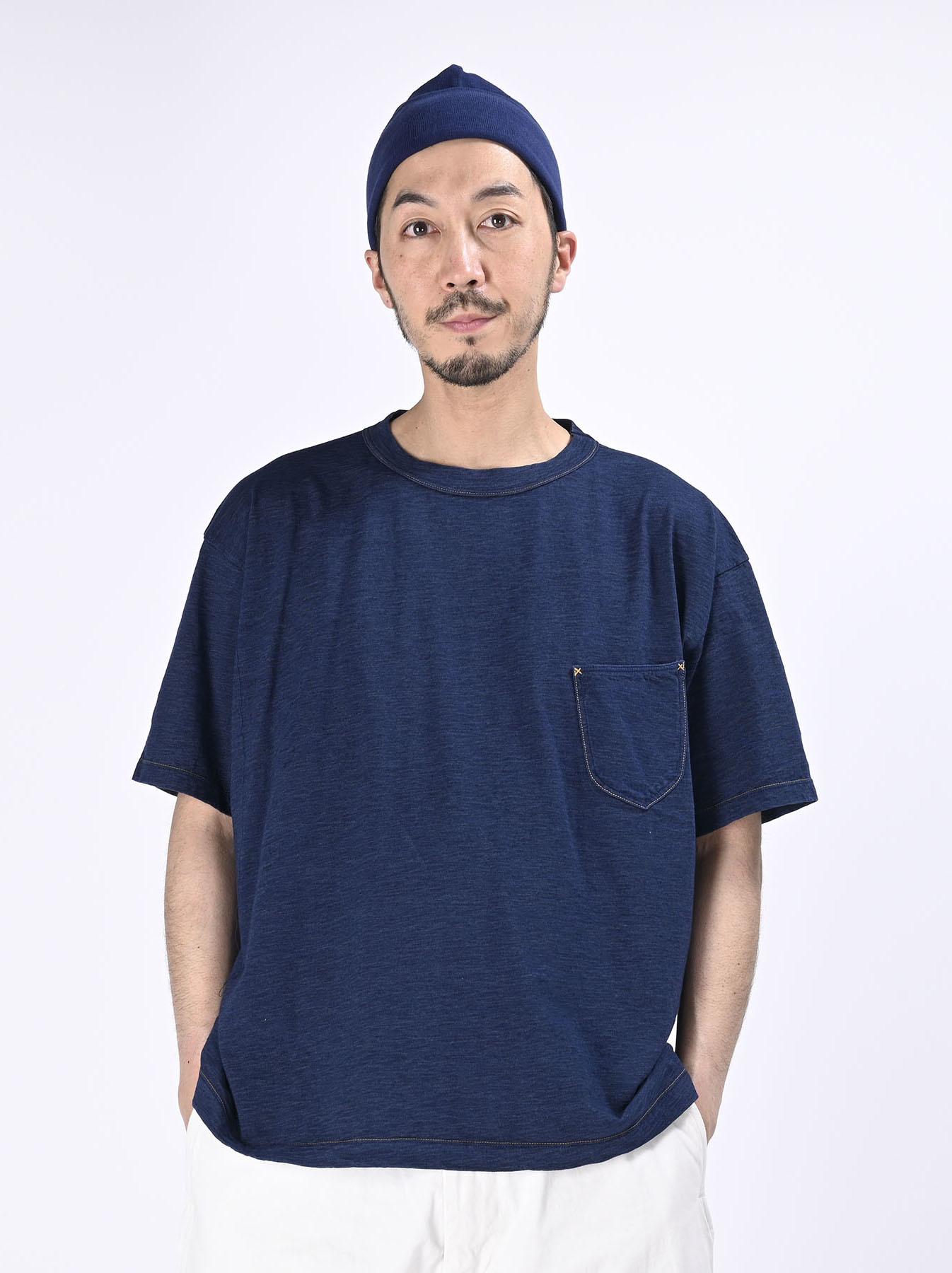 One Wash Indigo Tenjiku 908 Ocean T-Shirt (0621)-3