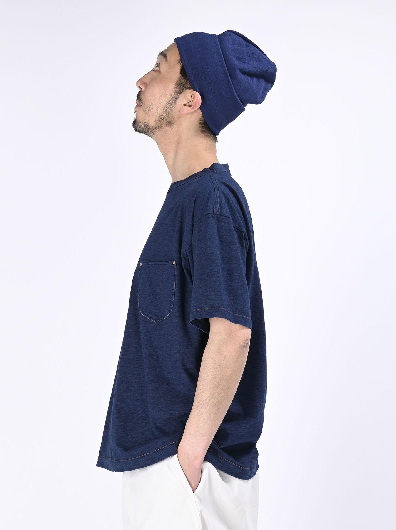 One Wash Indigo Tenjiku 908 Ocean T-Shirt (0621)-4