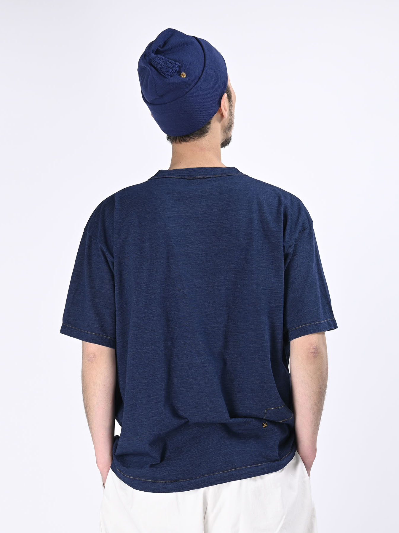 One Wash Indigo Tenjiku 908 Ocean T-Shirt (0621)-5
