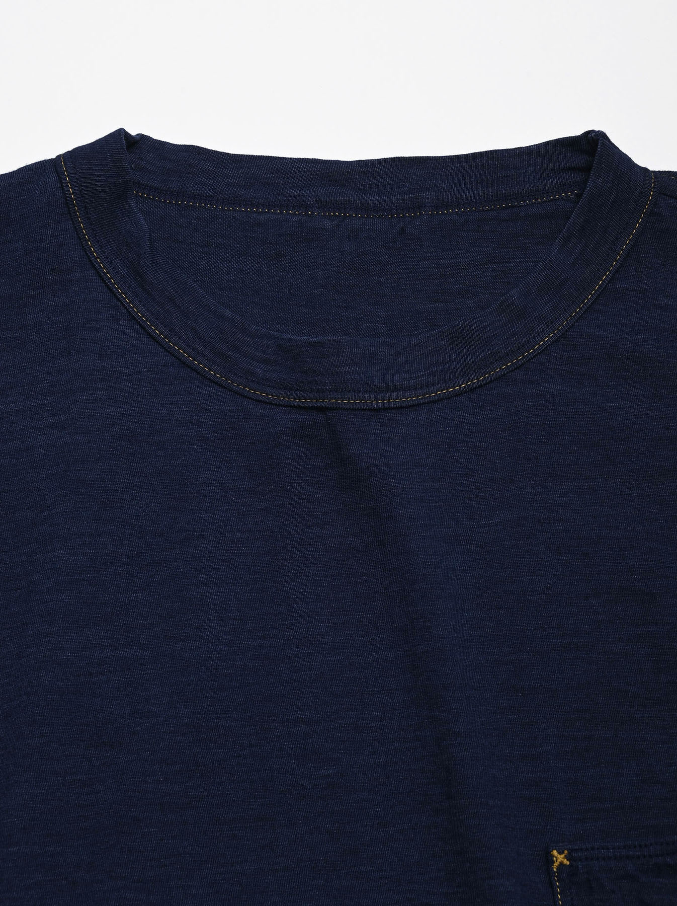 One Wash Indigo Tenjiku 908 Ocean T-Shirt (0621)-11