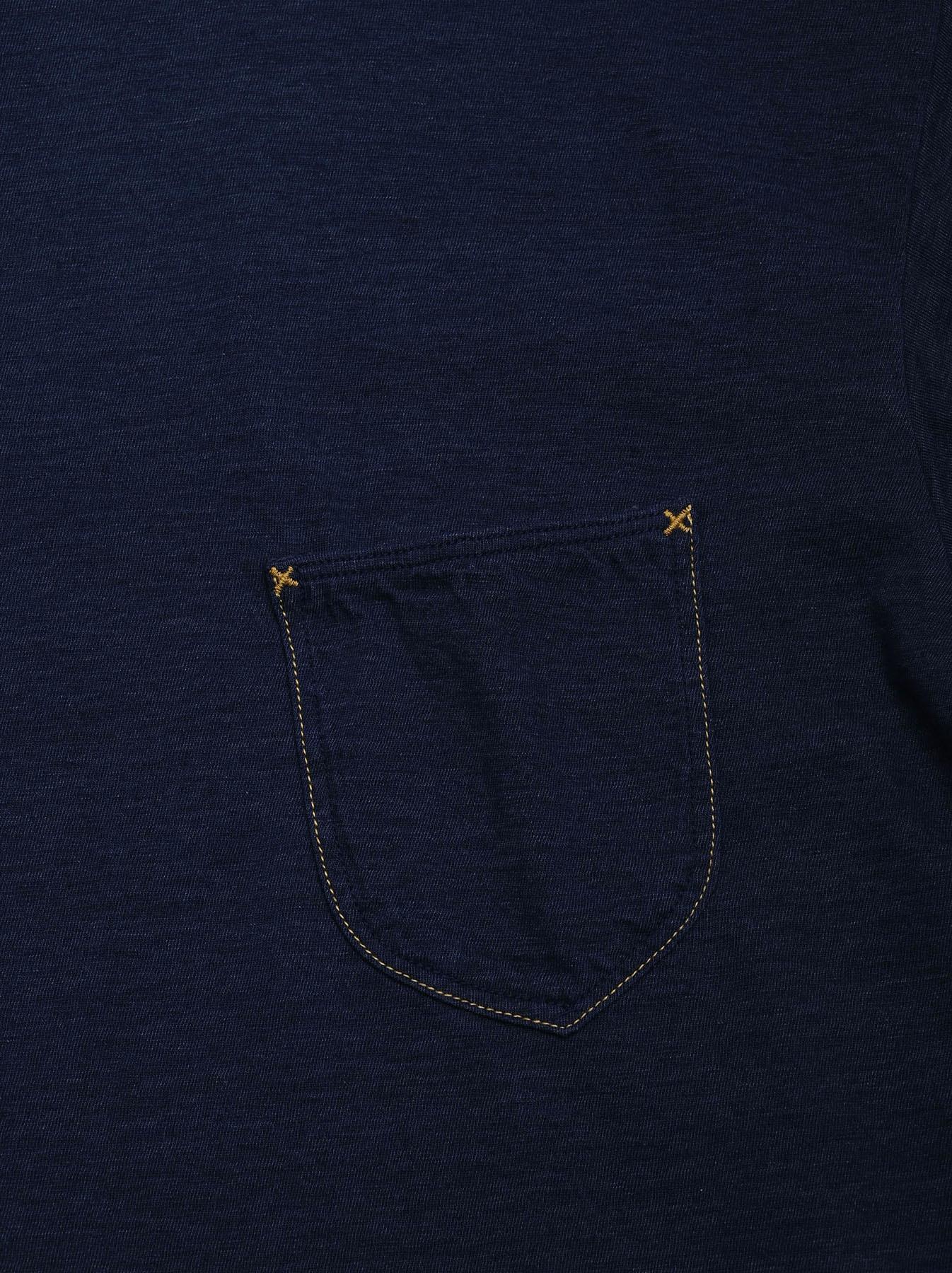 One Wash Indigo Tenjiku 908 Ocean T-Shirt (0621)-12