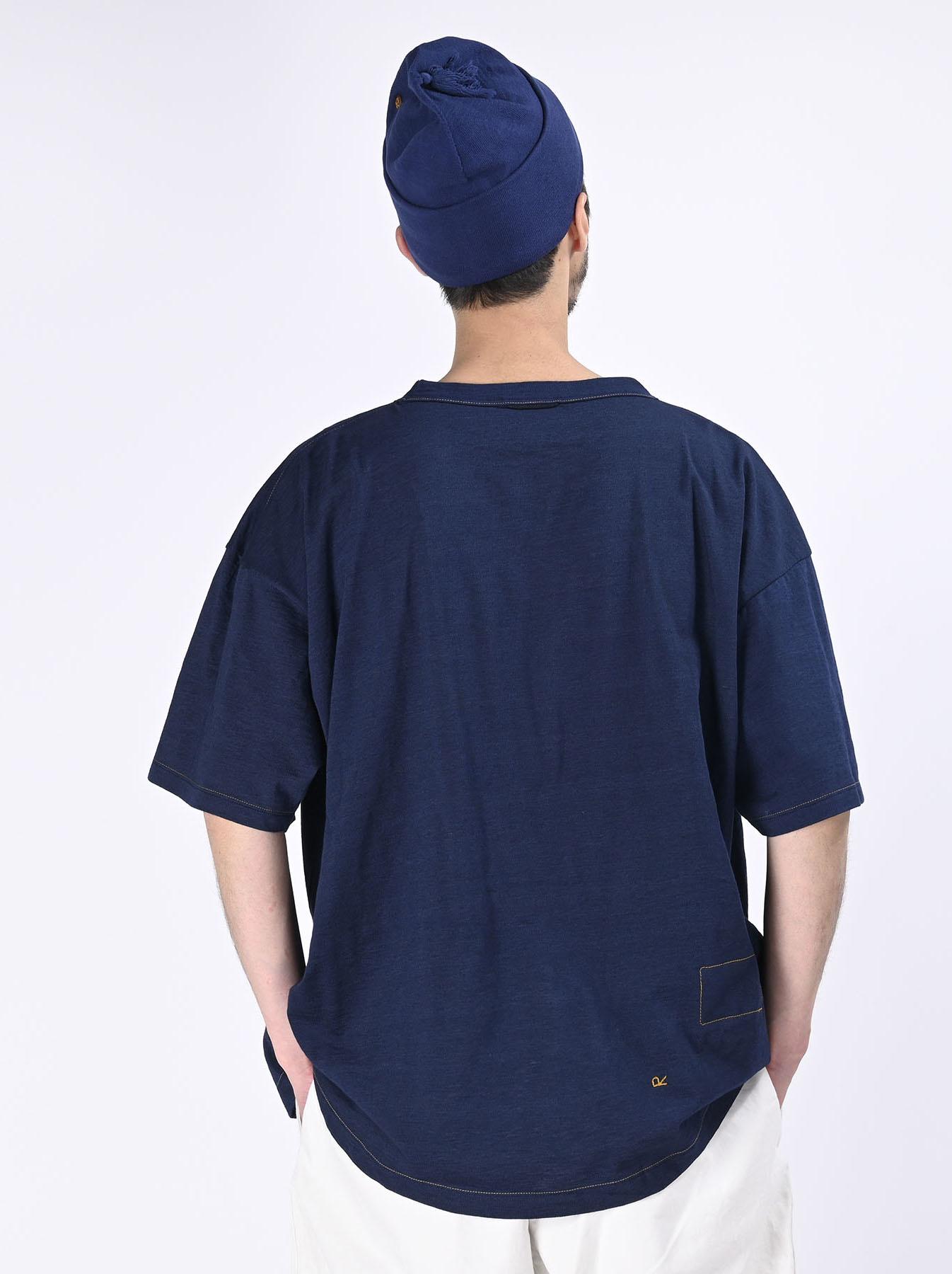 Indigo Tenjiku 908 Ocean T-Shirt (0621)-5
