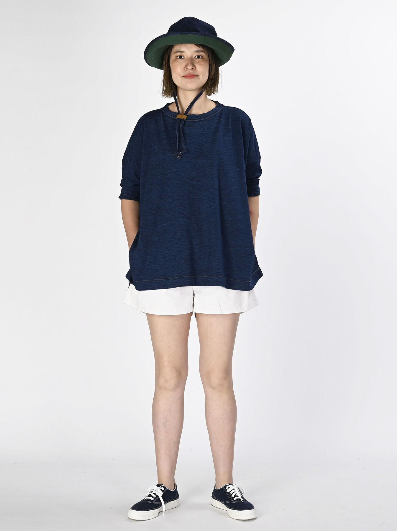 Indigo Zyu Zimbabwe Cotton Big Slit T-shirt (0721)-5