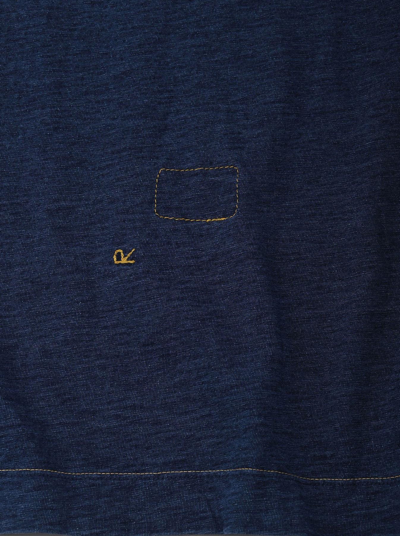 Indigo Zyu Zimbabwe Cotton Big Slit T-shirt (0721)-9