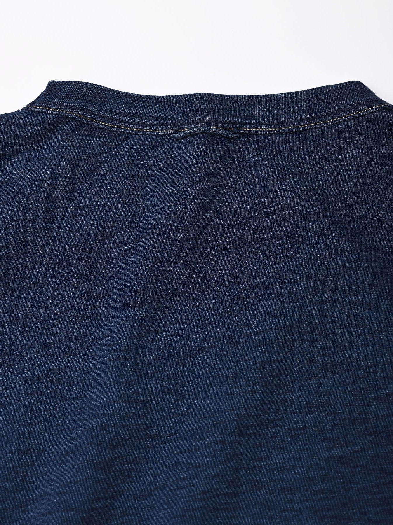 Indigo Zyu Zimbabwe Cotton Big Slit T-shirt (0721)-8
